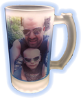 16oz Frosted Glass Mug