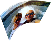 Large Curved Picture Glass