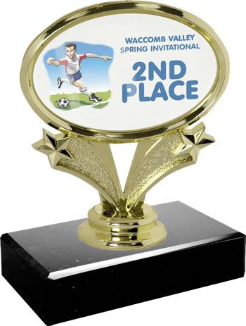Small Horizontal Oval Trophy Picture It On This Put