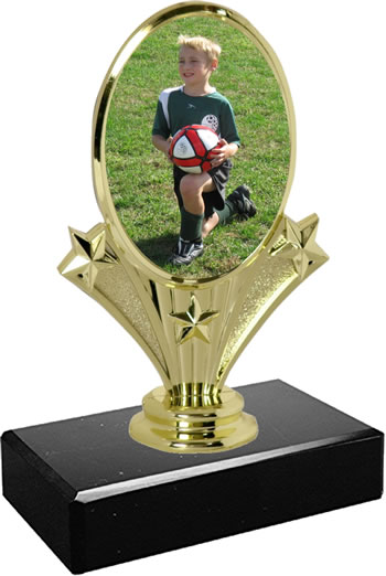 Small Vertical Oval Trophy Picture It On This Put Your